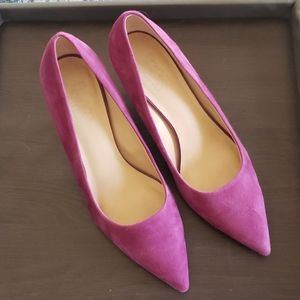 Franco Sarto Purple sueded pumps